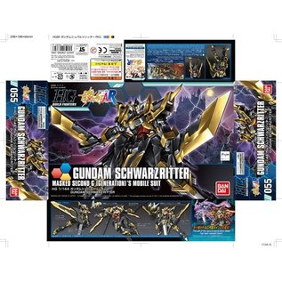 BANDAI BAN 5058252 HG 1/144 Gundam Schwarzritter