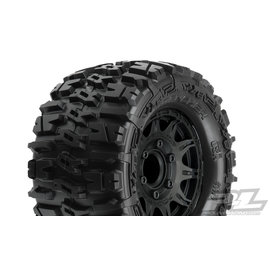 "Proline Racing PRO 117010 Trencher 2.8"" All Terrain Tire Mounted on Raid Black Wheels"