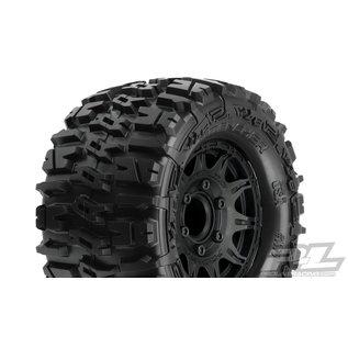 "Proline Racing PRO 117010 Trencher 2.8"" All Terrain Tire Mounted on Raid Black Wheels"