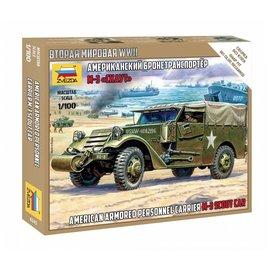 ZVEZDA ZVE 6245 M-3 SCOUT CAR 1/100 SCALE MODEL KIT