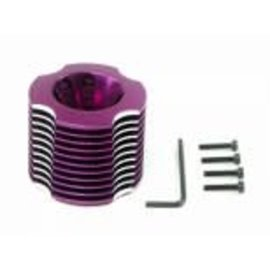 HPI RACING HPI 1436 ALUMINUM HEAT SINK HEAD (PURPLE/11FIN)  NITRO STAR 21BB S-25/Please tighten head screws equally.