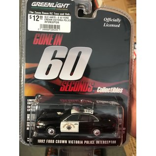 GREENLIGHT COLLECTABLES GLC 44870-E 1992 FORD CROWN VICTORIA 1/64 POLICE INTERCEPTOR GONE IN 60 SECONDS