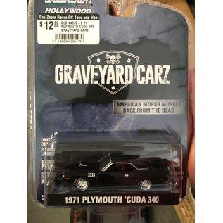 GREENLIGHT COLLECTABLES GLC 44870-F 71 PLYMOUTH CUDA 340 GRAVEYARD CARZ 1/64 DIECAST