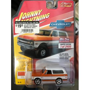 JOHNNY LIGHTNING JLC CP7312 CHEVY BLAZER 1970 ORANGE AND WHITE 1/64 DIECAST