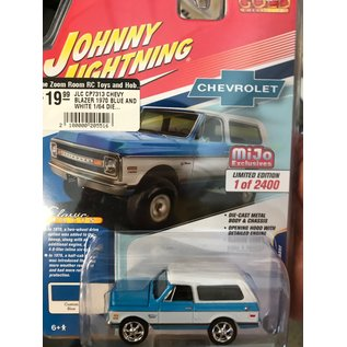 JOHNNY LIGHTNING JLC CP7313 CHEVY BLAZER 1970 BLUE AND WHITE 1/64 DIECAST