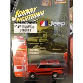 JOHNNY LIGHTNING J/L CP7314 JEEP WAGONEER 4X4 1981 1/64 DIEAST ORANGE