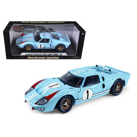 SHELBY COLLECTABLES SC SH411BL FORD GT40 1966 MK2 1/18 DIECAST