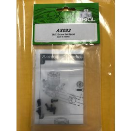 AXIAL RACING AXI 032 .28/.32 ENGINE SCREW SET 8PACK