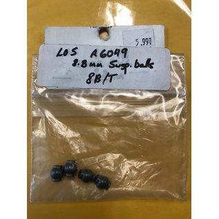 LOSI LOS A6049 8.8MM SUSPENSION BALLS 8B/T (4)