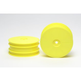 TAMIYA TAM 54286 Front Dish Wheels Fluorescent Yellow DB01 TRF502X TRF501X TRF511