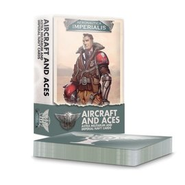 GAMES WORKSHOP WAR 60051808001 AERONAUTICA IMPERIALIS AIRCRAFT AND ACES ASTRA MILITARUM AND IMPERIAL NAVY CARDS