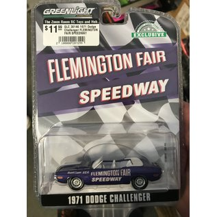 GREENLIGHT COLLECTABLES GLC 30146 1971 Dodge Challenger FLEMINGTON FAIR SPEEDWAY