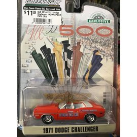 GREENLIGHT COLLECTABLES GLC 30144 1971 Dodge Challenger INDIANAPOLIS PACE CAR 1/64 DIECAST