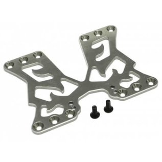 BOOM RACING BR 921014GM Aluminum Rear battery Mounting Plate for Sakura D4 Rear & AWD Gun Metal