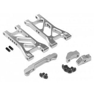BOOM RACING BR921COMBO4GM Performance Combo Package D Upgrade Set For D4 (Rear Separate Suspension Mount,Rear Suspension Mount,Rear Lower Suspension) Silver
