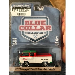 GREENLIGHT COLLECTABLES GLC 35160-C BLUE COLLAR COLLECTION 1979 VOLKSWAGEN TYPE 2 CRE CAB PICK-UP