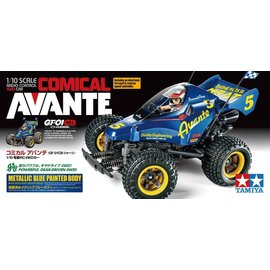 TAMIYA TAM 58678 COMICAL AVANTE GF-01CB PRE PAINTED METALIC BLUE BODY