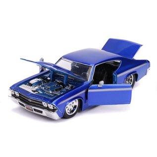 JADA TOYS JAD 31445 CHEVY CHEVELLE SS 1969 BLUE 1/24 DIECAST