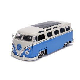 JADA TOYS JAD 99023 VOLKSWAGEN BUS 1962 BLUE 1/24 DIECAST