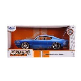 JADA TOYS JAD 31667 PONTIAC GTO JUDGE BLUE 1/24 DIECAST