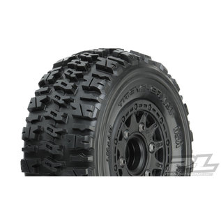 "Proline Racing PRO 1190-10 Trencher X SC 2.2""/3.0"" All Terrain Tires Mounted for Slash 2wd & Slash 4x4 Front or Rear, Mounted on Raid Black 6x30 Removable Hex Wheels"