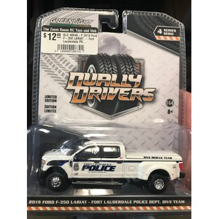 GREENLIGHT COLLECTABLES GLC 46040-F 2019 Ford F-350 LARIAT - Fort Lauderdale POLICE DEPT.
