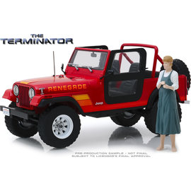 GREENLIGHT COLLECTABLES GRE 19060 1983 JEEP CJ-7 RENEGADE WITH SARAH CONNOR FIGURE