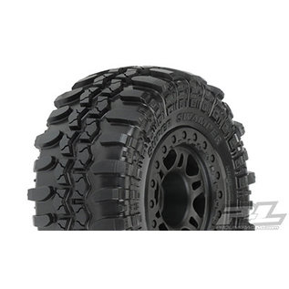 "Proline Racing PRO 10103-22 Interco TSL SX Super Swamper SC 2.2""/3.0"" Tires Mounted for Slash 2wd Rear & Slash 4x4 Front or Rear, Mounted on Split Six Black Wheels"