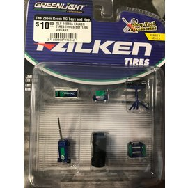 GREENLIGHT COLLECTABLES GLC 16060A FALKEN TIRES TOOLS SET 1/64 DIECAST