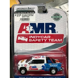 GREENLIGHT COLLECTABLES GLC 30179 CHEVROLET SILVERADO 2020 AMR SAFETY TEAM WHITE BLUE