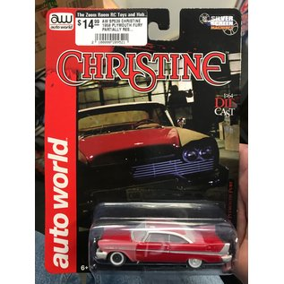 AUTOWORLD AW SP039 CHRISTINE 1958 PLYMOUTH FURY PARTIALLY RESTORED