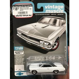 AUTOWORLD WAR 03733 CHEVY CHEVELLE SS 396 1966 WHITE
