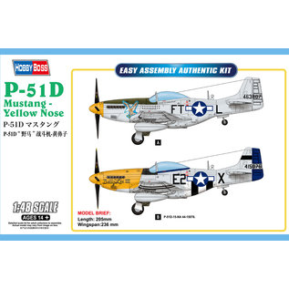 HOBBYBOSS HOB 85808 P-51D MUSTANG - YELLOW NOSE 1/48 SCALE