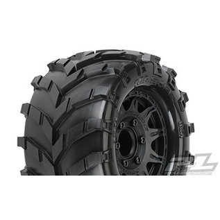 "Proline Racing PRO 119210 Masher 2.8"" MTD Raid Black 6x30 F/R"