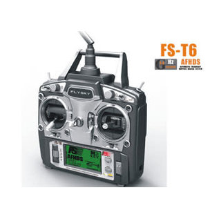 FLYSKY FLY FST6 Flysky T6 2.4Ghz 6 Channel Dual Stick Radio with LCD and FLYFS-R6B 6 Channel Receiver