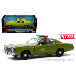 GREENLIGHT COLLECTABLES GLC 84103 THE A TEAM PLYMOUTH FURY US ARMY POLICE 1/24 DIECAST