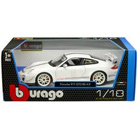 BURAGO BUR 11036WHITE PORSCHE 911 GT3 RS 4.0 WHITE 1/18 DIE CAST