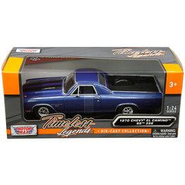 MOTOR MAX MOT 79347AC-BL 1970 CHEVY EL CAMINO SS 396 BLUE 1/24 DIECAST