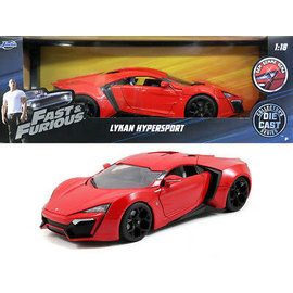 JADA TOYS JAD 97388 LYKEN HYPERSPORT 1/18 DIECAST FAST AND FURIOUS