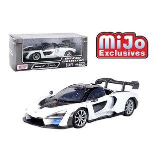 MOTOR MAX MM 79355WH MCLAREN SENNA WHITE 1/24 DIECAST