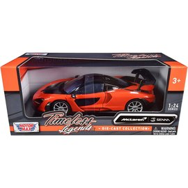 MOTOR MAX MM 79355OR MCLAREN SENNA ORANGE 1/24 DIECAST