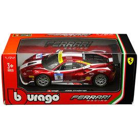 BURAGO BUR 26308 FERRARI 488 CHALLENGE #11 DIECAST 1/24