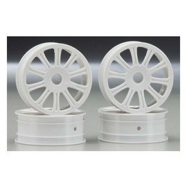 JCO 3305 Rulux 1/10 RC10B4 Front Wheel White (4)
