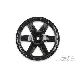 "Proline Racing PRO 273703  Desperado 2.2"" Black Wheels for 1:16 E-REVO, 1:16 SUMMIT and Savage XS Flux, Front or Rear"