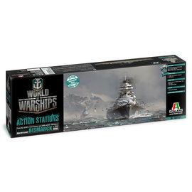 ITALERI ITA 46501 1/700 World Of Warships Bismark w/Bonus Codes MODEL KIT