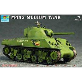 TRUMPETER TRU 07224 M4A3 MEDIUM TANK MODEL KIT 1/72