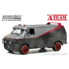 GREENLIGHT COLLECTABLES GLC 84112 A-TEAM 1983 GMC VANDURA WEATHERED VERSION W/BULLET HOLES