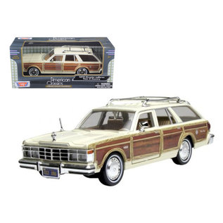 MOTOR MAX MM 73331CA 1979 CHRYSLER LABARON TOWN & COUNTRY CASHMERE WHITE 1/24 DIECAST