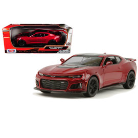 MOTOR MAX MM 79351RD 2017 Chevrolet Camaro ZL1 RED/BLACK 1/24 DIECAST