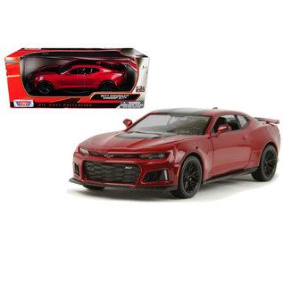 MOTOR MAX MM 79351RD 2017 Chevrolet Camaro ZL1 RED/BLACK 1/24 DIECAST